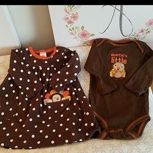 Babys First Thanksgiving Twin Set